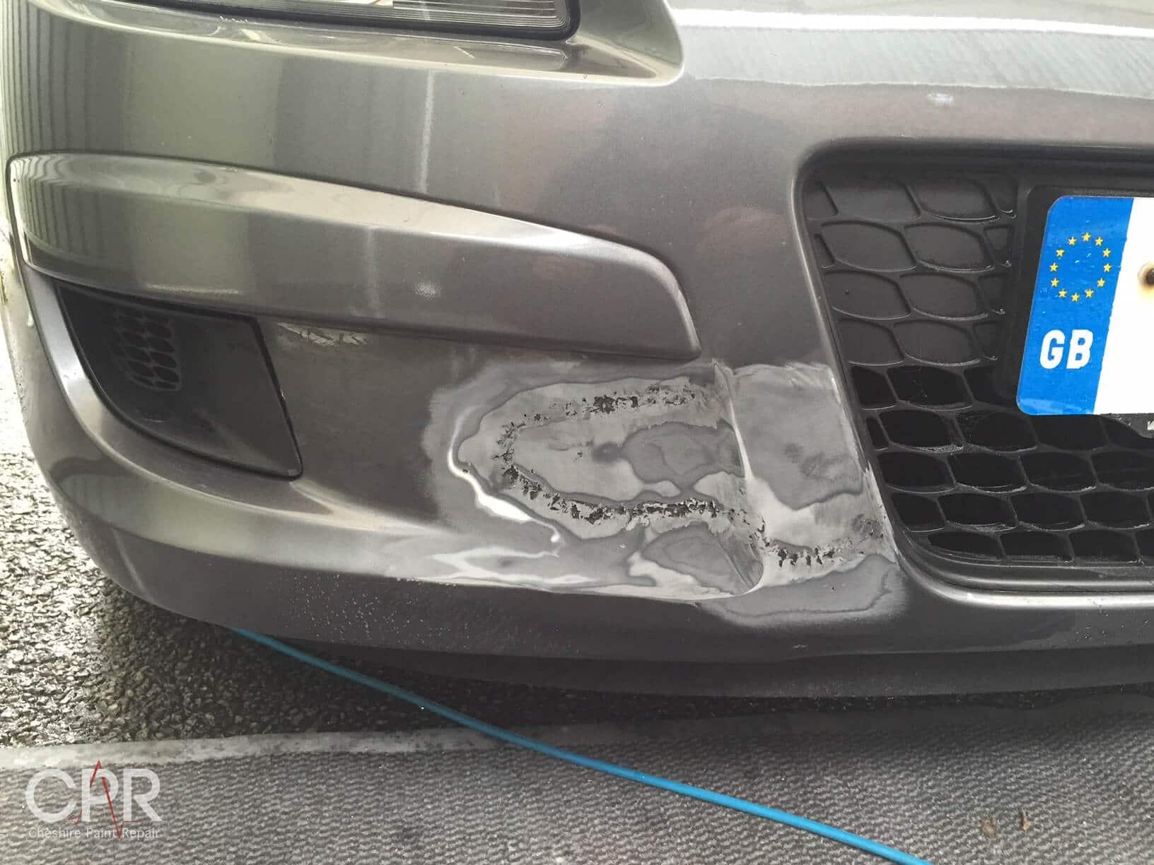 Hyundai I30 Cracked Front Bumper Repair Work Cheshire
